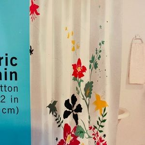 Floral fabric shower curtain NEW